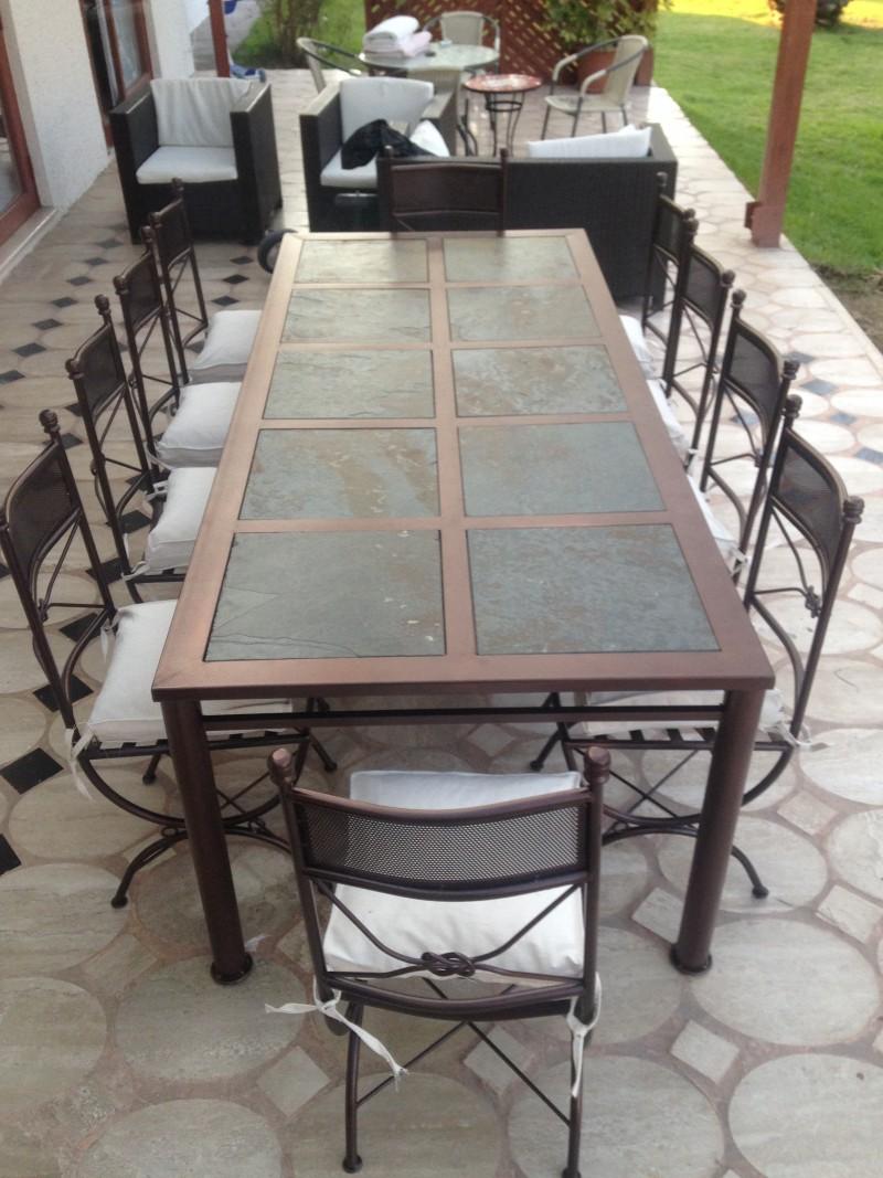 Comedor de fierro modelo renca 10 sillas rusti home for Comedor 10 sillas oferta