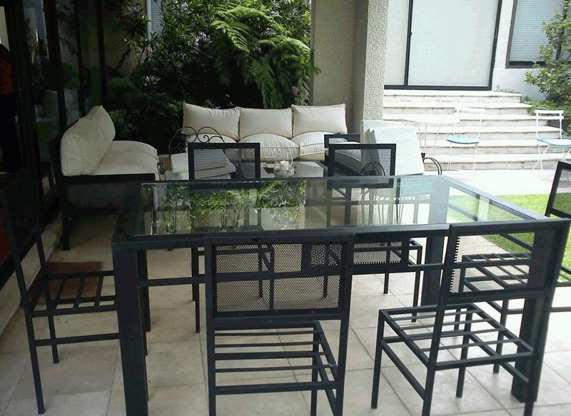Comedor de fierro modelo pirque 6 sillas rusti home for Comedor de vidrio con 6 sillas