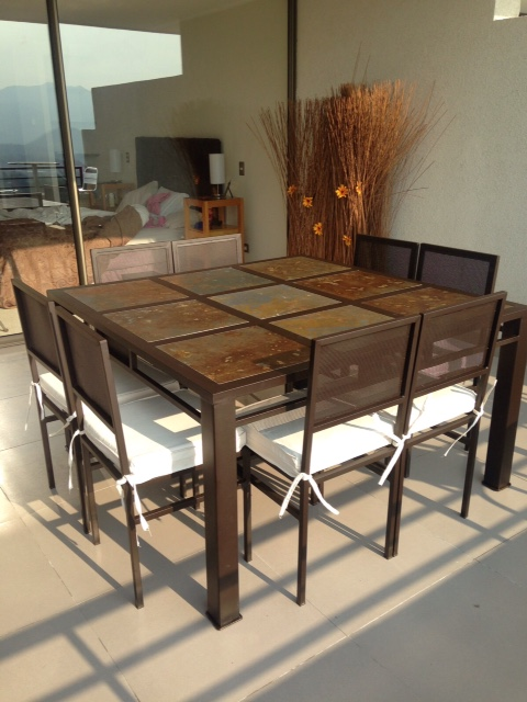 Comedor de fierro modelo san miguel 8 sillas rusti home for Comedor alto