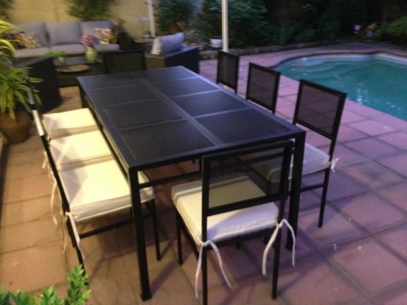 Comedor fierro modelo el bosque 8 sillas metal rusti for Comedores bonitos y baratos