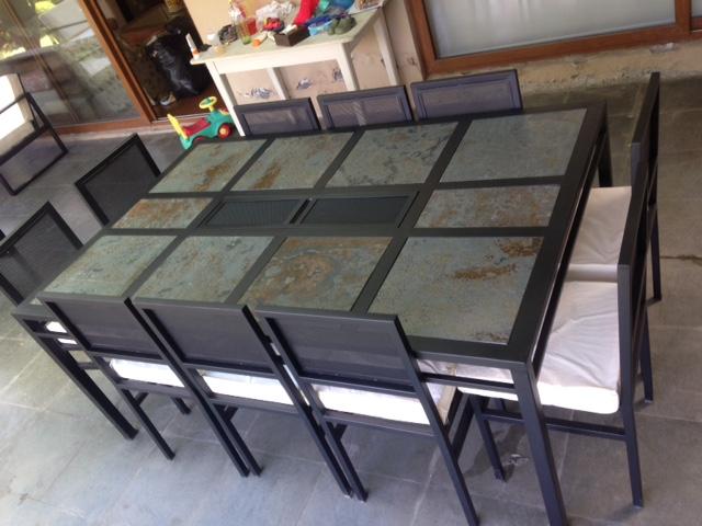 Comedor con brasero 10 sillas   rusti home,armonia en tu hogar,