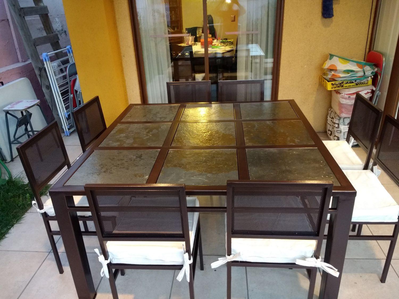 Comedor de fierro modelo san miguel 8 sillas rusti home - Comedor terraza ...