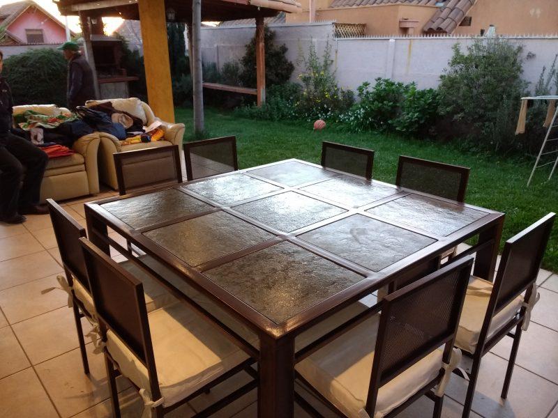 Comedor de fierro modelo san miguel 8 sillas rusti home for Liquidacion muebles terraza