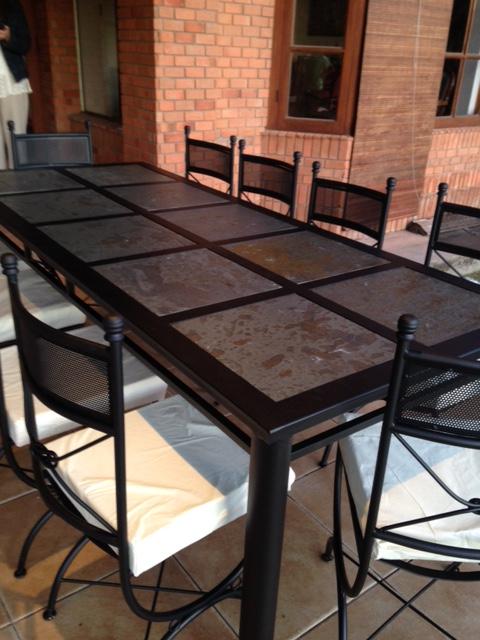 Comedor fierro exclusivo modelo nudo malla 10 sillas 30 for Comedor 10 sillas oferta