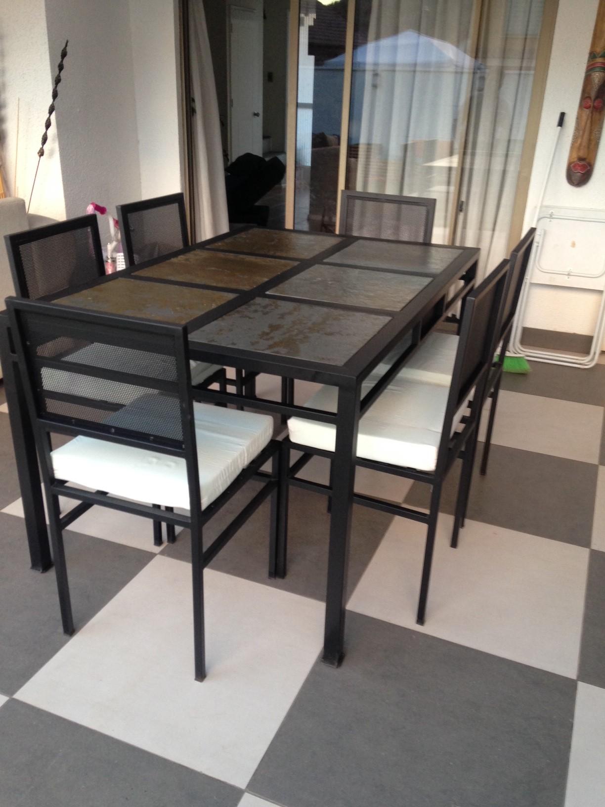 Comedor de fierro modelo lo espejo 6 sillas rusti home - Comedor de terraza ...