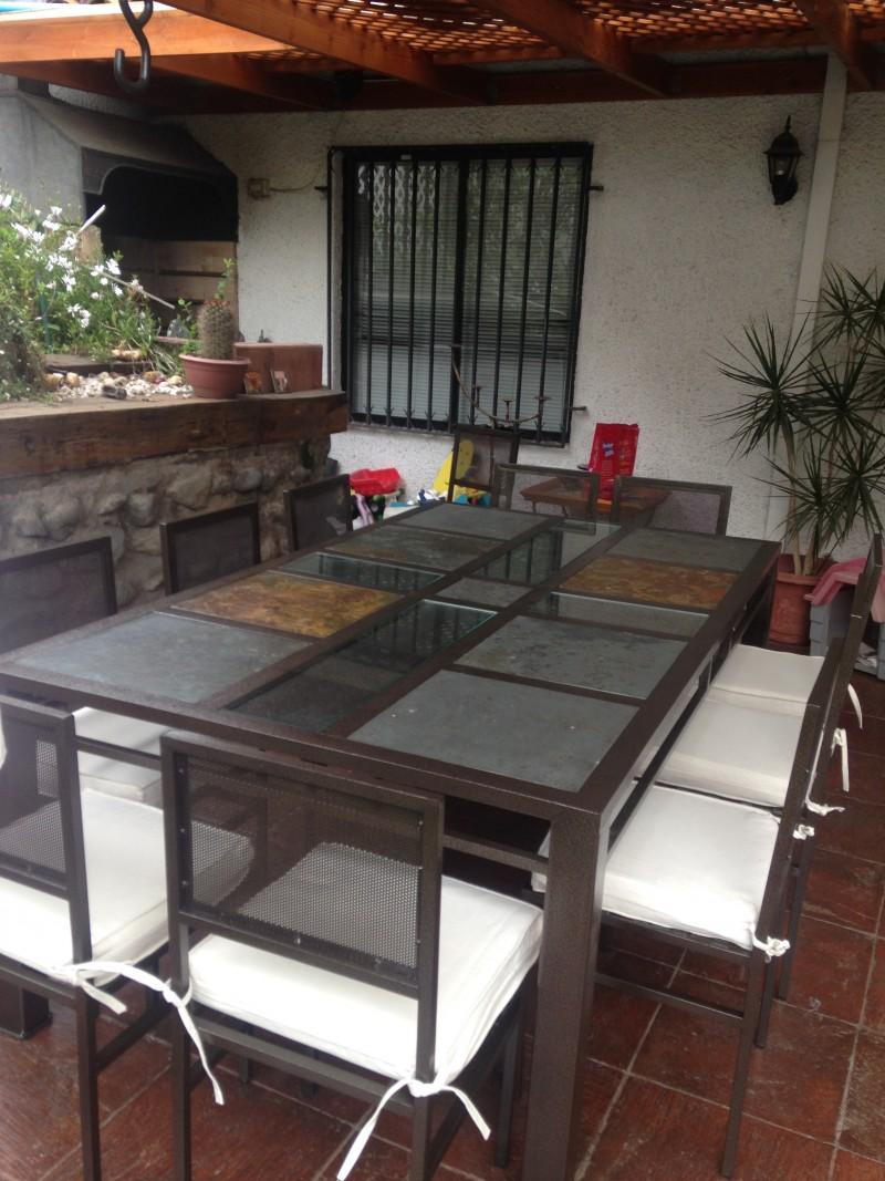 Comedor de fierro modelo quilicura 10 sillas rusti home for Comedor 10 sillas
