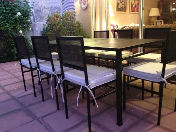 Comedor fierro modelo el bosque 8 sillas metal rusti for Modelos de sillas de metal