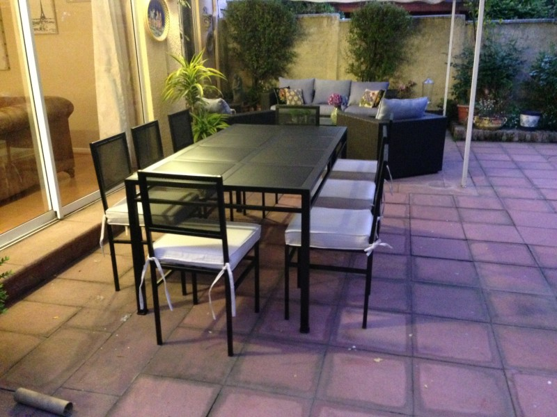 Comedor fierro modelo el bosque 8 sillas metal rusti for Comedores 8 sillas chile