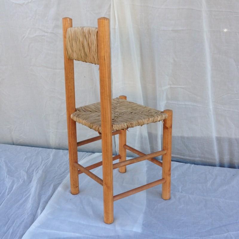 Silla madera totora rusti home armonia en tu hogar for Sillas tipo bar en madera