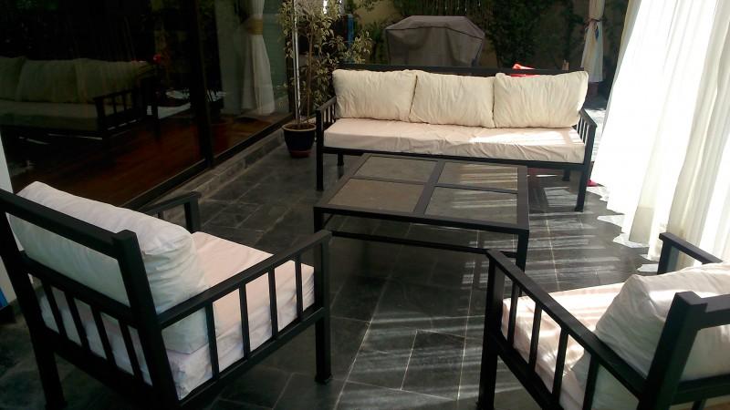 Living fierro modelo antofagasta rusti home armonia en for Muebles terraza fierro