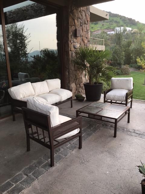 Living fierro modelo santiago rusti home armonia en tu for Muebles terraza rattan pvc chile