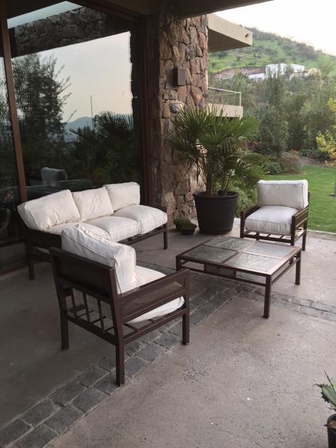 Living fierro modelo santiago rusti home armonia en tu for Muebles terraza fierro