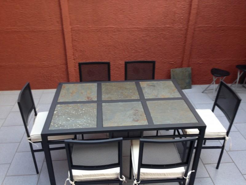 Comedor de terraza rectangular 6 sillas de fierro modelo - Comedor de terraza ...