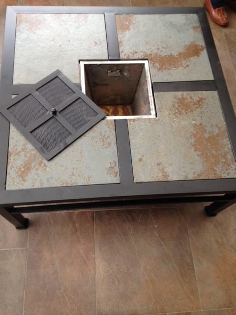 mesa centro con brasero rusti home armonia en tu hogar