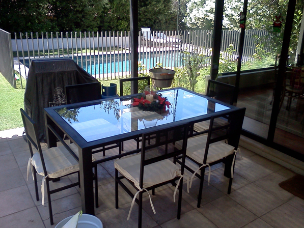Comedor de fierro modelo pirque 6 sillas rusti home for Comedores chile