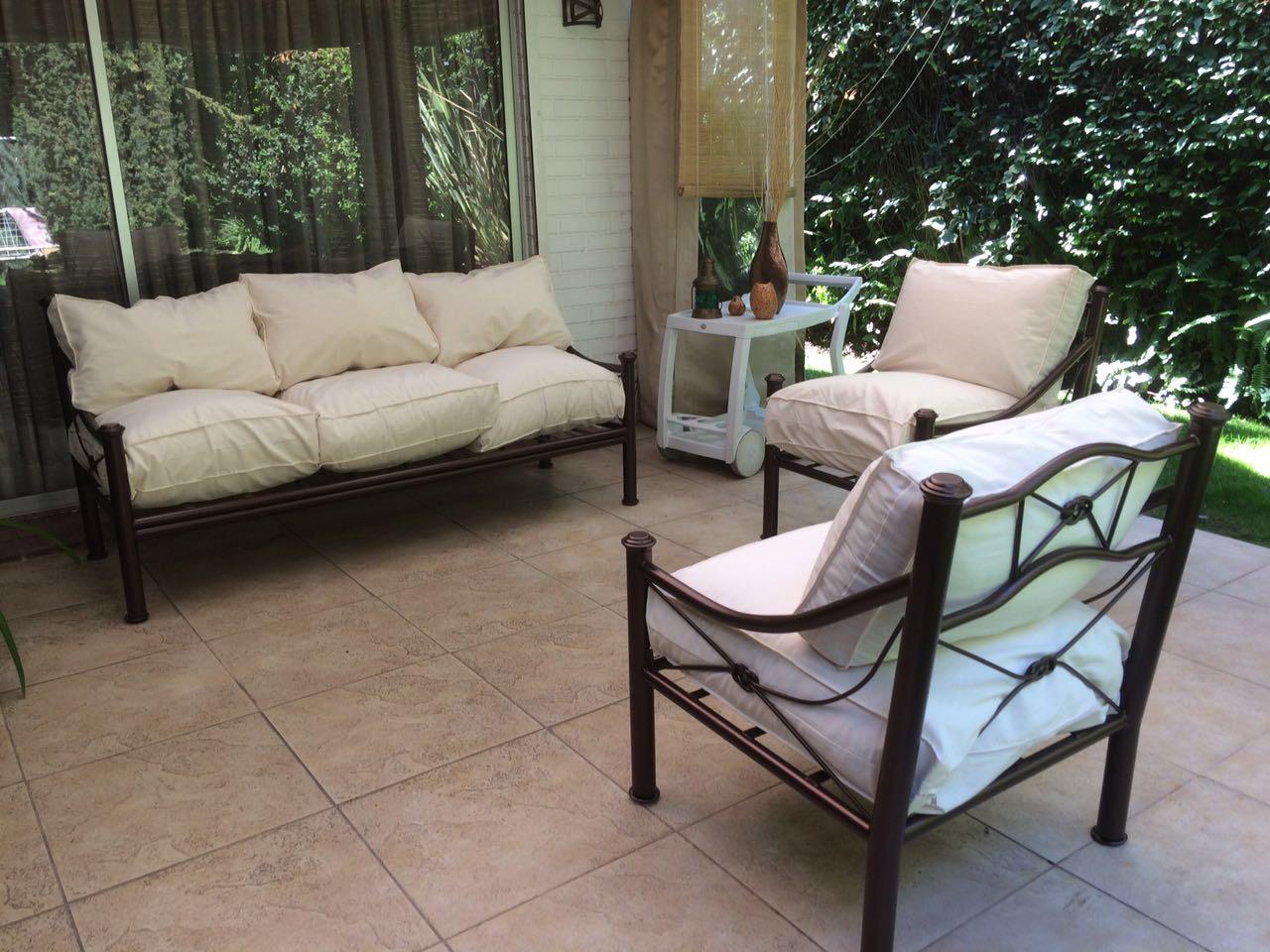 Living fierro modelo talca rusti home armonia en tu hogar for Muebles terraza fierro