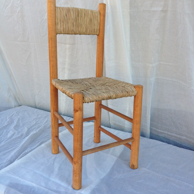 Silla madera totora rusti home armonia en tu hogar for Precio sillas madera