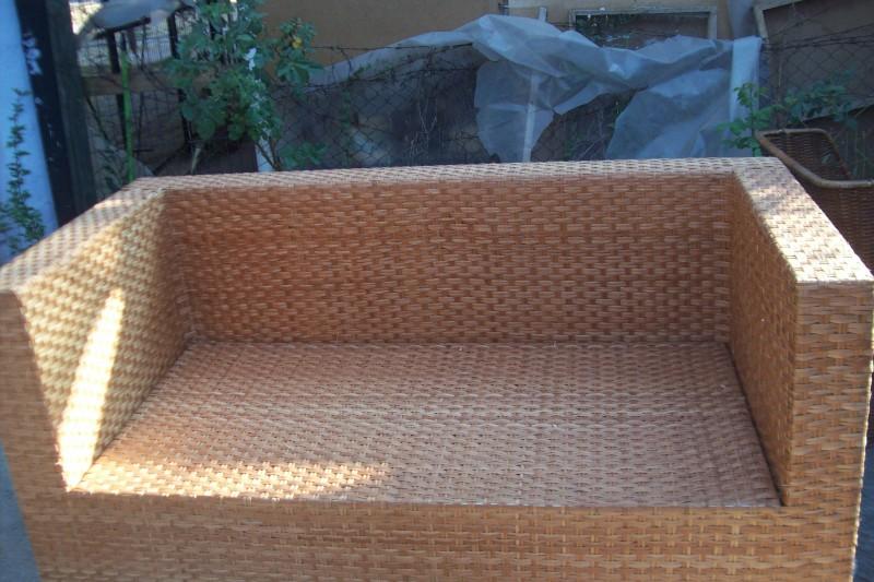 Muebles de terraza de mimbre muebles giratorio barato for Sillones jardin baratos