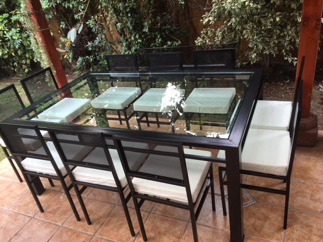 COMEDOR DE FIERRO MODELO RECOLETA 10 SILLAS - Rusti home,Armonia en ...