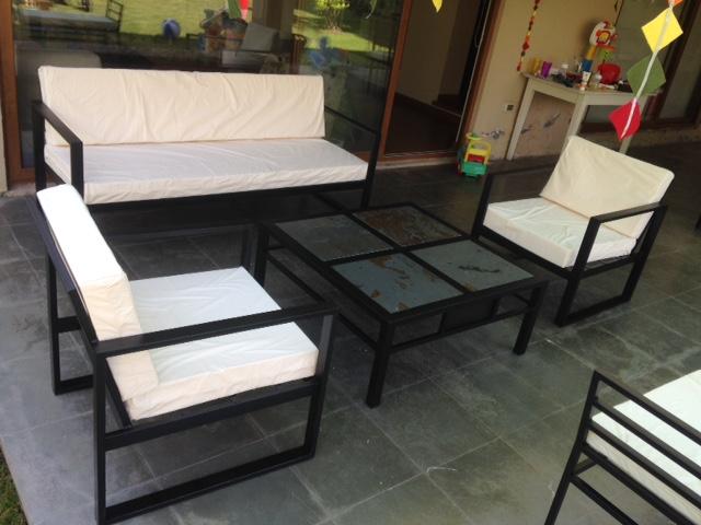Living fierro modelo los andes rusti home armonia en tu - Cojines para sillones de terraza ...