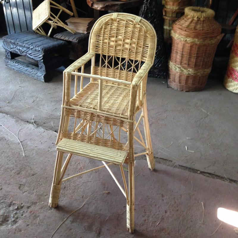 silla para bebe mimbre